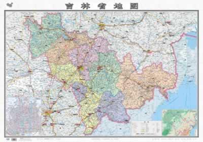 中华人民共和国分省图系列地图:吉林省地图(新版)