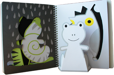 动物动物站起来!(全3册 乐乐趣童书:最实用的立体手工