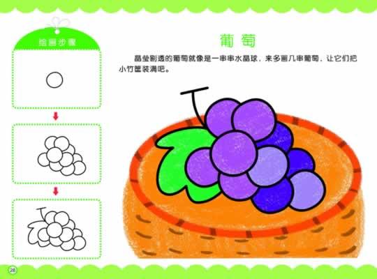 水果蔬菜 2 6岁适用 我爱简笔画