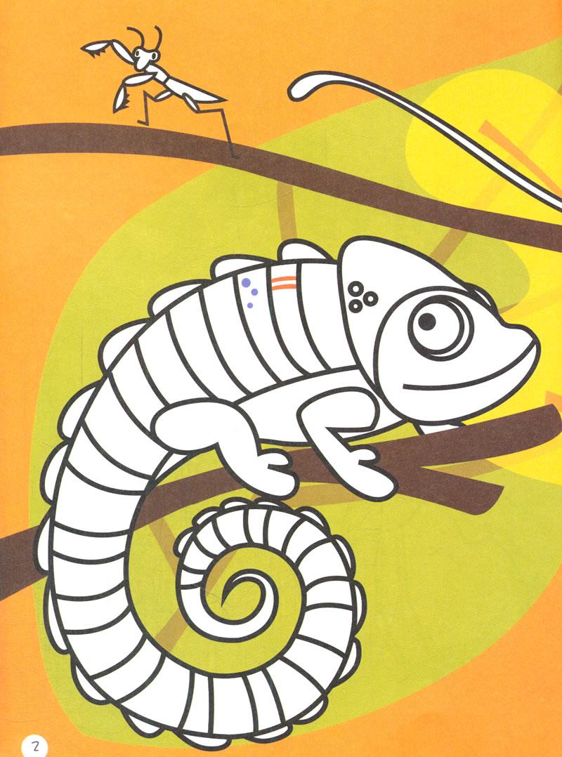 书中涵盖的贴纸,涂鸦,涂色,创意,数字,字母,动物等多种元素,既可以