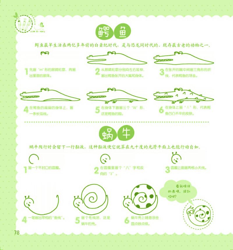 简单随意的植物简笔画,有趣的食物简笔画,常见的交通工具,漂亮的风景