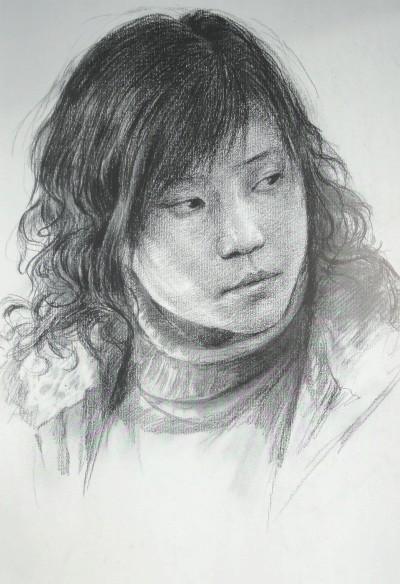 名师素描教学人物头像精选范本-葛伟