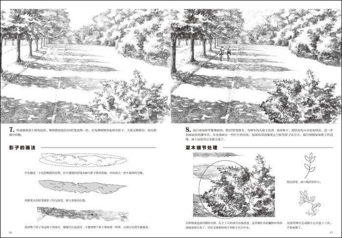 素描基础 画风景图片
