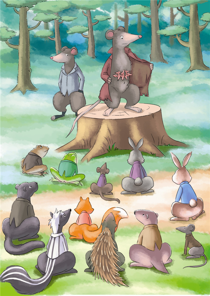 《西风妈妈和小动物们的故事·小动物们的新邻居》