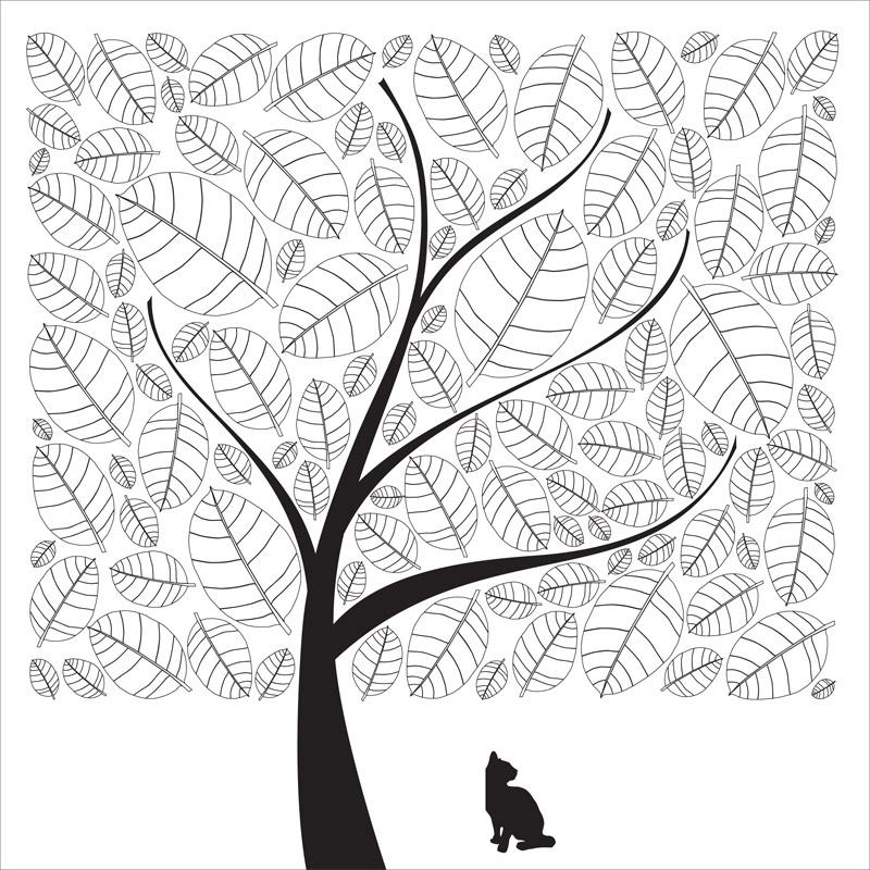 一片树林简笔画