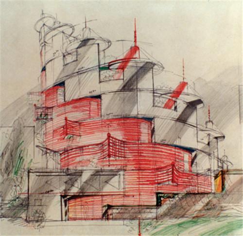"""图例说明是这样的:""""平面图影响建筑的整体结构,显示了它的几何规则和"""