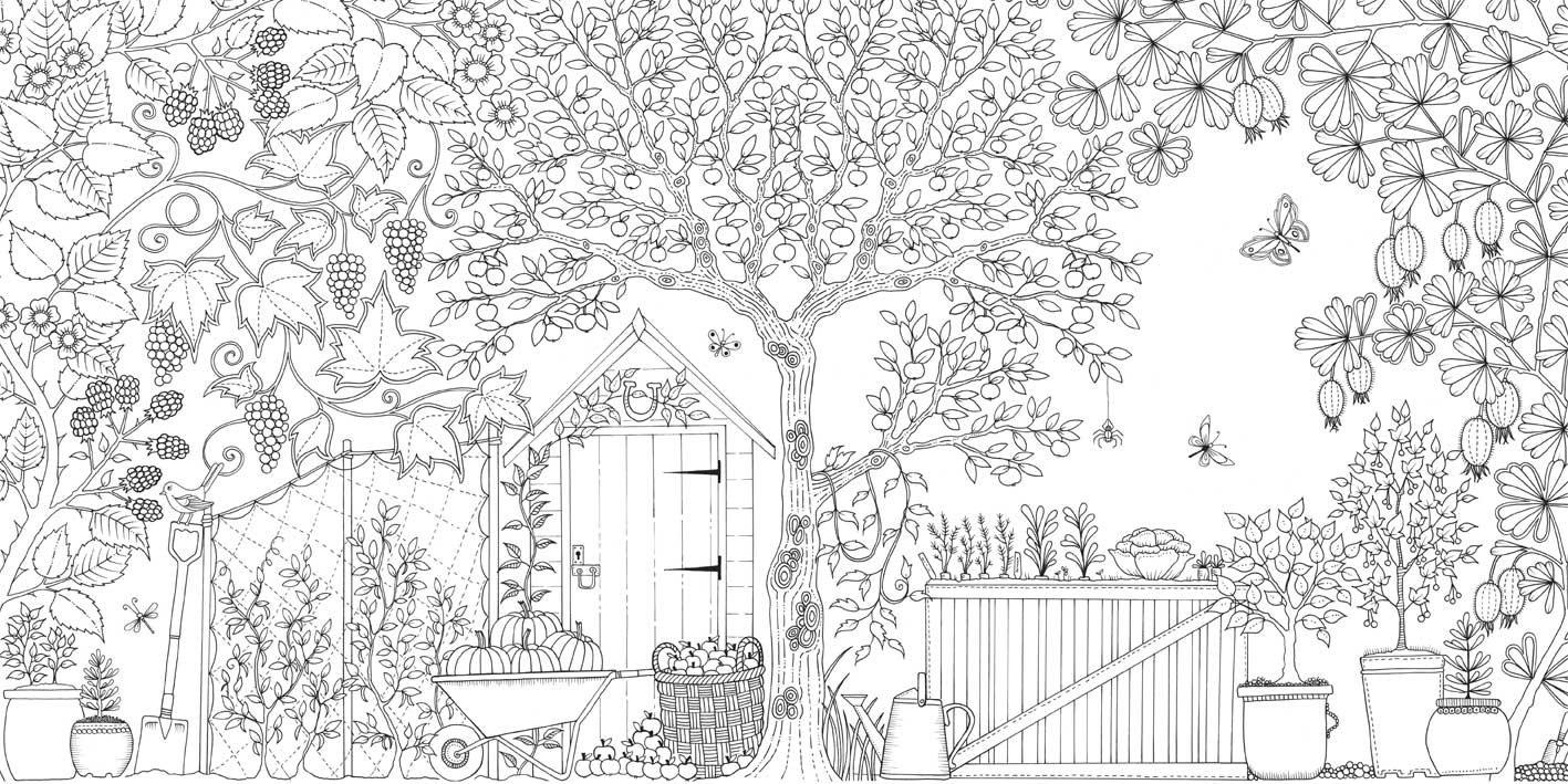 花园怎么画简笔画图片