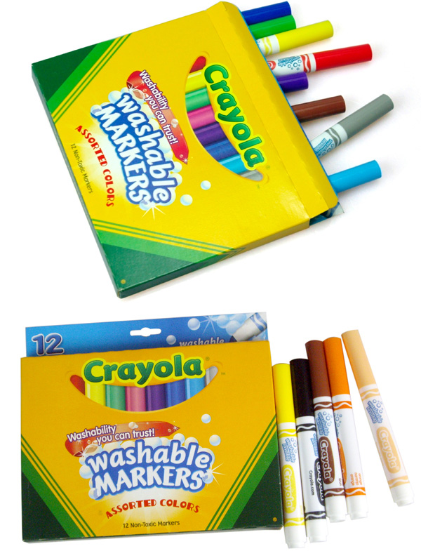 12色可水洗粗头马克笔