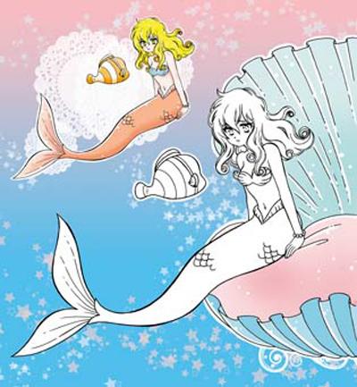 妙妙小画家-小公主系列-小美人鱼填色游戏书