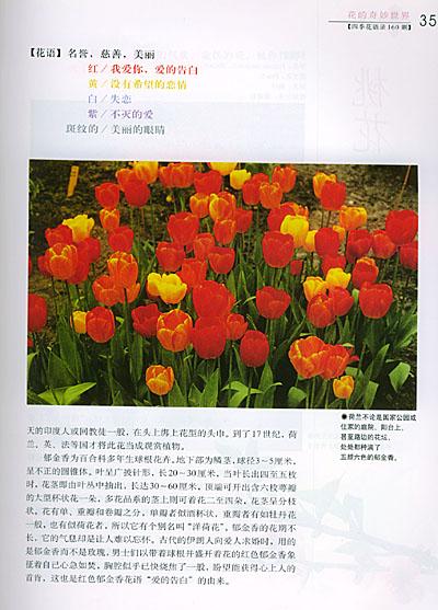 花开花谢匆匆,但新花轮流绽放,却足以令人开怀,这本四季花语录,按春