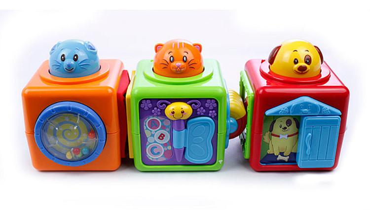 winfun 英纷 婴幼启蒙玩具 小动物叠叠积木 0613-nl