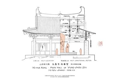 【rt3】梁『随书附赠梁思成手绘建筑图一份』 梁思成 中国青年出版社
