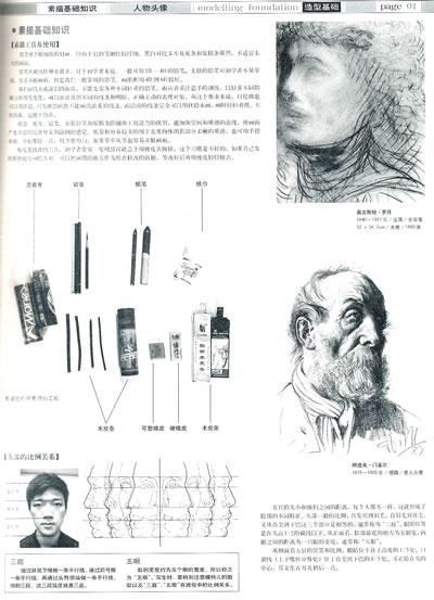 素描人物头像-图书杂志-艺术-绘画
