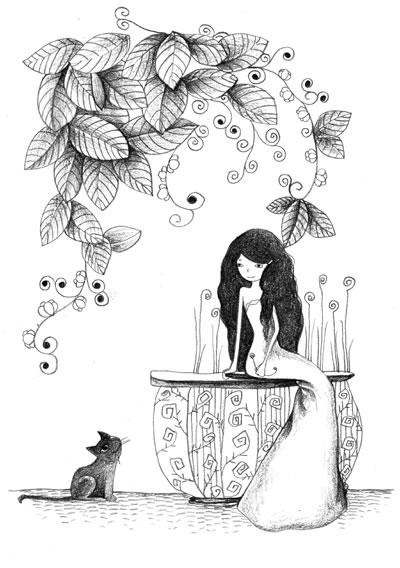 餐具简笔画 小动物 公主