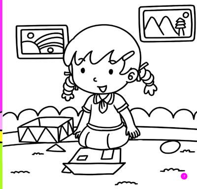 幼儿园生活日记户外活动简笔画