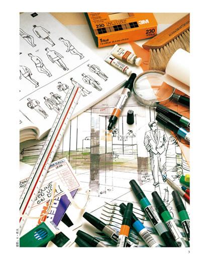 8   目录  致谢 前言 第一章:马克笔绘画基础  1 墨线加马克笔上色的