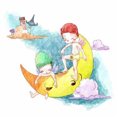 父亲节儿童画 海底世界儿童画