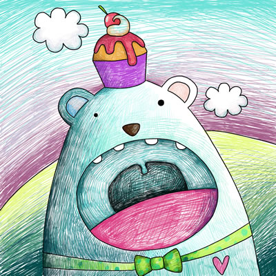 儿童彩色铅笔画 图片: 动物 园里真快乐 彩色铅笔-儿童彩色铅笔画,