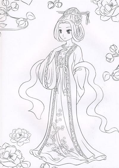 公主城堡儿童画