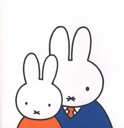 最可爱的小兔子美术图片