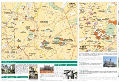 比利时 卢森堡旅游地图