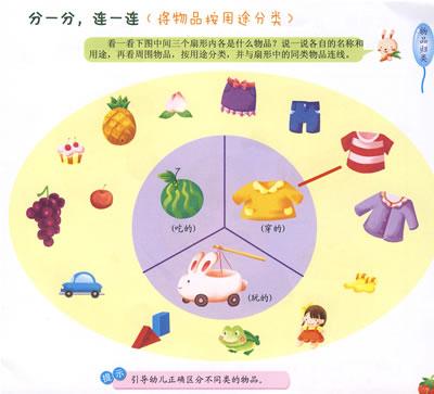 大家都来玩(点数各种活动的人) 双色几何图形卡片 小动物卡片 水果